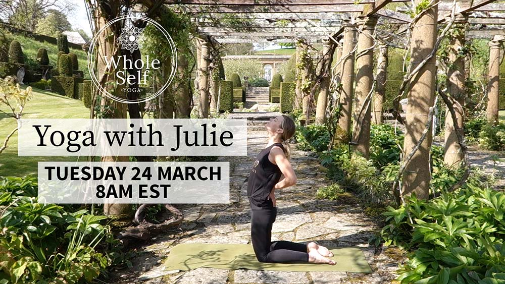 Live Yoga with Julie - Tuesday 24th March