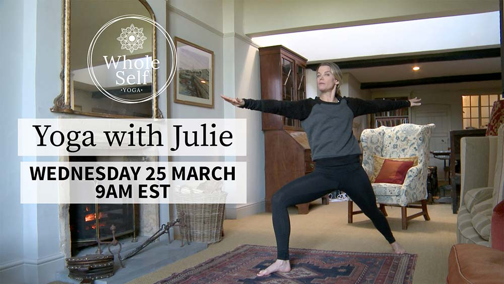 Live Yoga with Julie - Wednesday 25th March