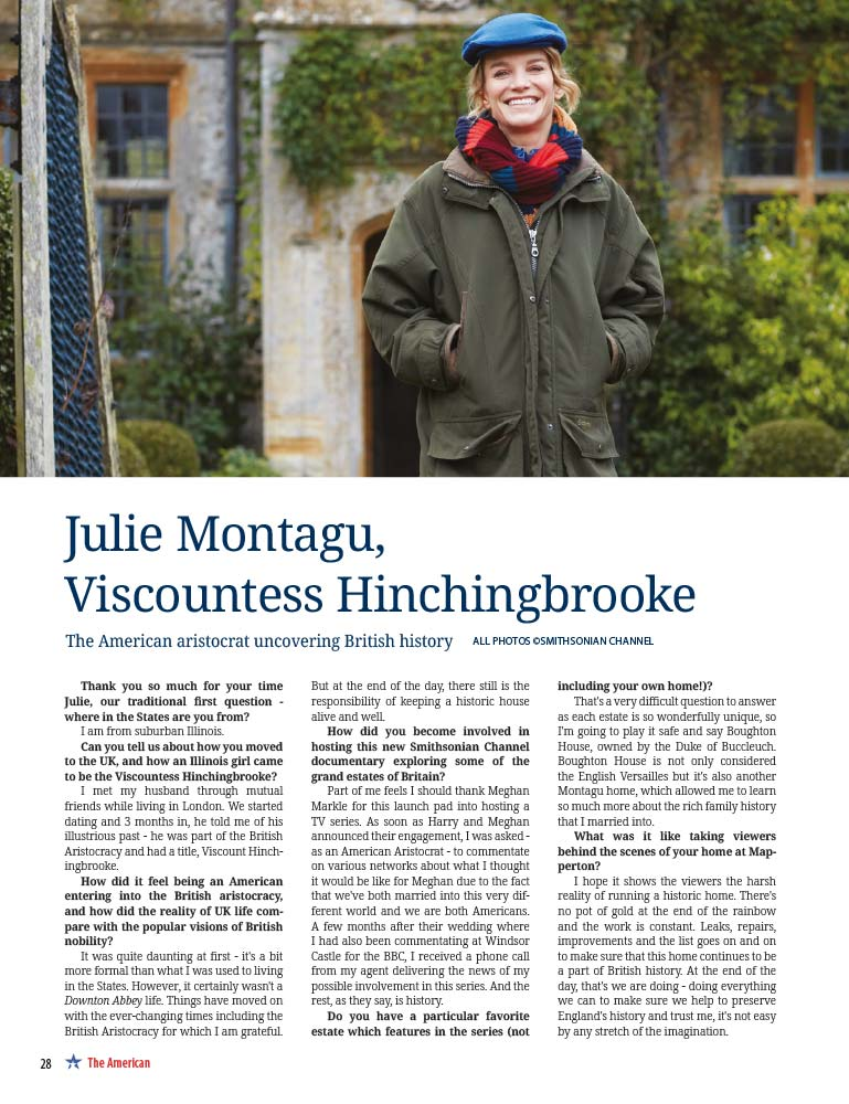 The American Magazine - Julie Montagu, Viscountess Hitchingbrooke page 1